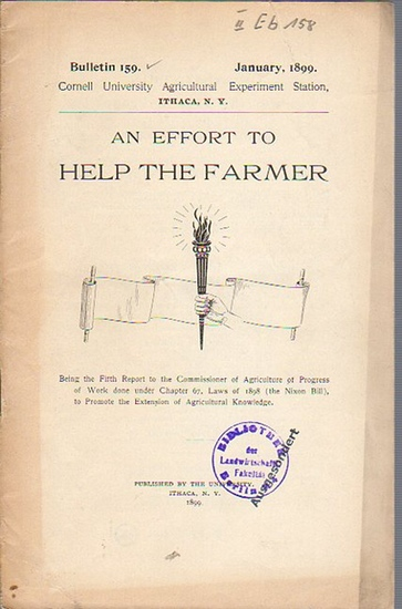 Roberts, I. P. and others: An effort to Help the Farmer. (= Bulletin 159, January, 1899. Cornell University Agricultural Experiment Station. Ithaca, N. Y. Horticultural Division.).