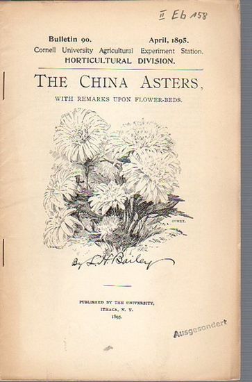 Bailey, L. H.: The China Asters; with Remarks upon Flower-Beds. (= Bulletin 90, April, 1895. Cornell University Agricultural Experiment Station. Ithaca, N. Y. Horticultural Division.).