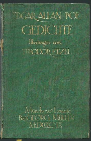 Poe, Edgar Allan: Gedichte. Übertragen von Theodor Etzel.