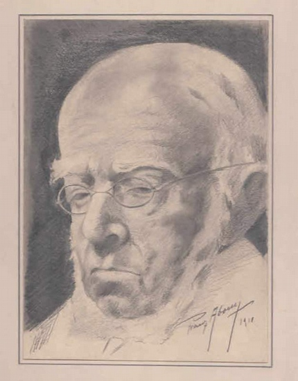 Abony, Franz: Portrait Adolph Menzel.