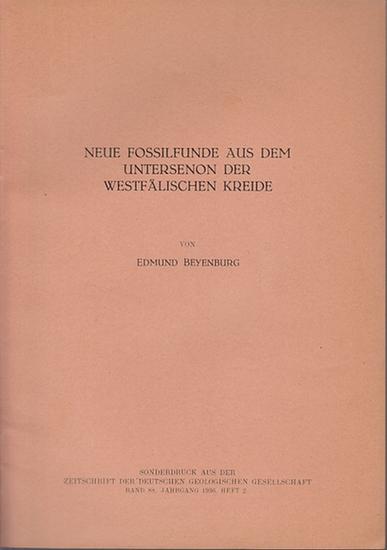 Beyenburg, Edmund : Neue Fossilienfunde aus dem Untersenon der Westfälischen Kreide.