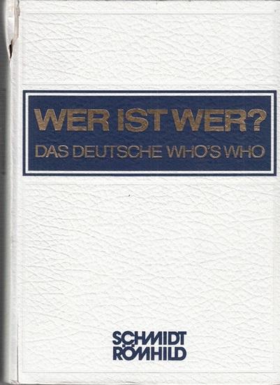 Wer ist wer? - Walter Habel (Begr.). - Wer ist wer? Das deutsche Who's who. Band XXIX. 1990 / 1991. Bundesrepublik Deutschland und West-Berlin. (= Vormals Degeners Wer ist's ?)