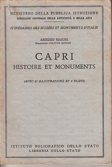Capri. - Maiuri, Amedeo: Capri. Histoire et Monuments.