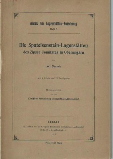 Bartels, W.: Die Spateisenstein - Lagerstätten des Zipser Comitates in Oberungarn. Herausgeber: Königlich Preußische geologische Landesanstalt. (= Archiv für Lagerstätten-Forschung, Heft 5).