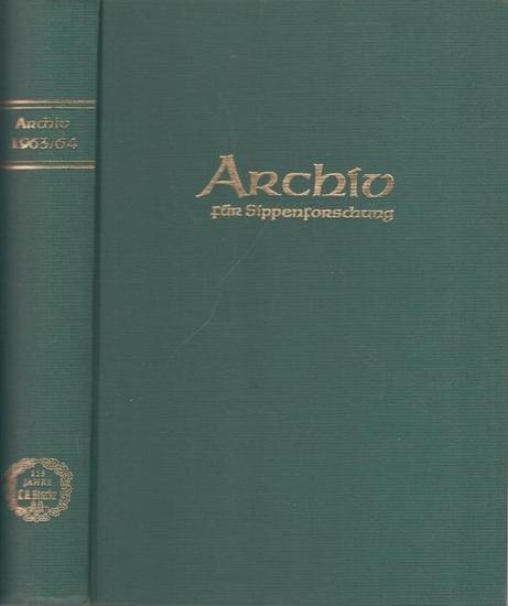 Kretschmer, Hans (Schriftltg.): Archiv für Sippenforschung mit praktischer Forschungshilfe. 29. und 30. Jahrgang 1963 - 1964 komplett mit den Heften 9 - 16.