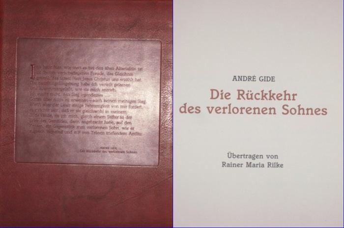 Gide, André: Die Rückkehr des verlorenen Sohnes. Übertragen von Rainer Maria Rilke.