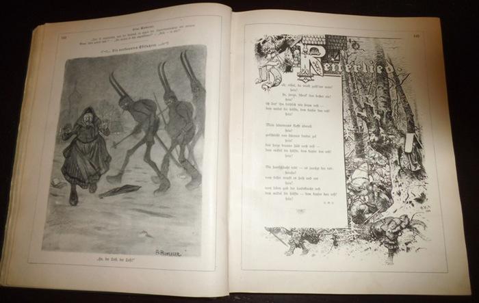 Fliegende Blätter. - Schneider, J. (Red.): Fliegende Blätter. Band CXXIV (124). Nro. 3154-3179. UND Band CXXV (125). Nro. 3180-3205. 2 Bücher in einem Band.