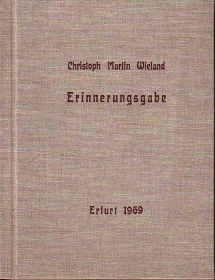 Wieland, Christoph Martin (1733-1813). - Strobel, Walter: Erinnerungsgabe. Brief Wielands vom 26. des Heumonats 1771 an Balthasar Haug als Faksimile.