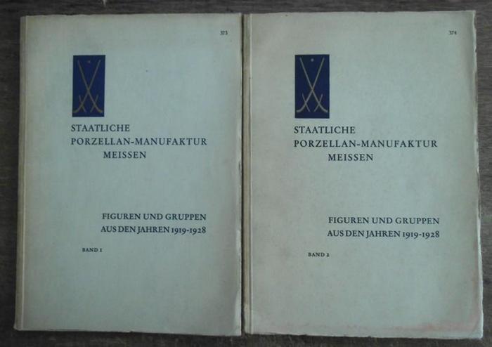Meissener Porzellan / Meissner Porzellan. - Staatliche Porzellan-Manufaktur Meissen. Bände 1 und 2, Nr. 373 und 374. Übersicht der figürlichen Erzeugnisse aus den Jahren 1919 - 1928.
