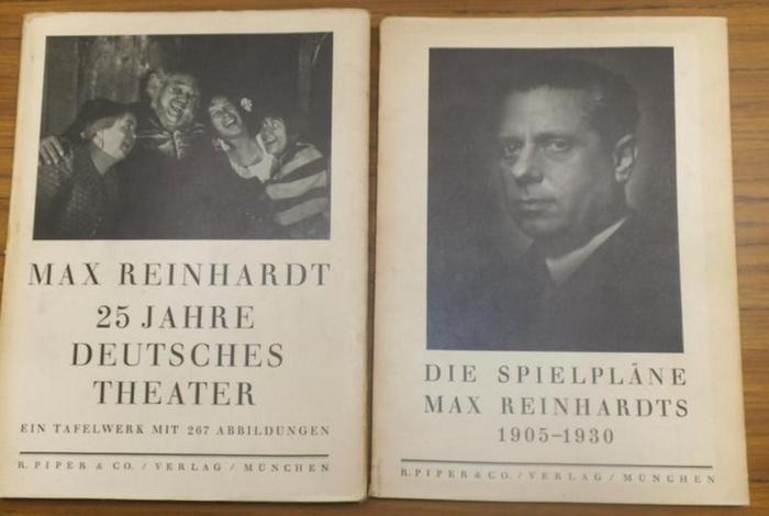 Reinhardt, Max. - Rothe, Hans / Horch, Franz: Max Reinhardt, 25 Jahre Deutsches Theater. UND: Die Spielpläne Max Reinhardts 1905-1930. In Verbindung mit dem Tafelwerk von Hans Rothe. Komplett in 2 Bänden.