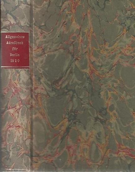 Adressbuch.- Hrsg. von J.W.Boicke. Allgemeines Adreßbuch für Berlin. Exemplar Nr-52.
