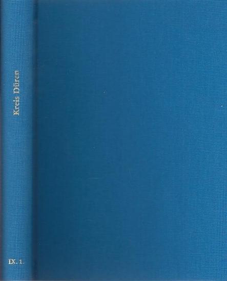 Düren.- Paul Hartmann, Edmund Renard (Bearb.) - Im Auftrage des Provinzialverbandes herausgegeben von Paul Clemen: Die Kunstdenkmäler des Kreises Düren (= Die Kunstdenkmäler der Rheinprovinz, neunter (9.) Band, I.)