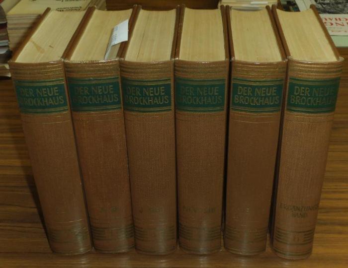 Brockhaus- Der Neue Brockhaus : Allbuch in fünf Bänden (und einem Atlas). Es liegen vor: Lexikon in 5 Bänden A-Z sowie Band 6 (Ergänzungen) - ohne den Atlasband.