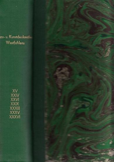 Wittgenstein.- A. Ludorff (Bearb.): Die Bau- und Kunstdenkmäler des Kreises Wittgenstein / Lübbecke / Herford / Gelsenkirchen-Stadt / Schwelm / Hagen - Land UND Altena. Sammelband mit 7 Teilen in einem Buch. Im Auftrag des Provinzial-Verbandes der Prov...