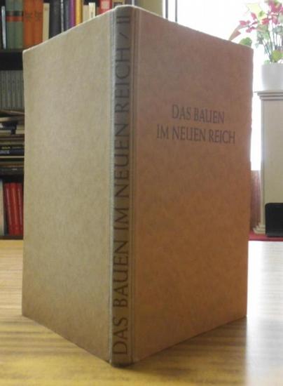 Troost, Gerdy (Hrsg:): Das Bauen im neuen Reich. Zweiter Band apart (von insgesamt zwei Bänden).