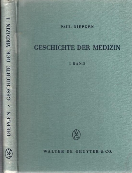 Diepgen, Paul: Von den Anfängen der Medizin bis zur Mitte des 18. Jahrhunderts (= Geschichte der Medizin. Die historische Entwicklung der Heilkunde und des ärztlichen Lebens, Band I).