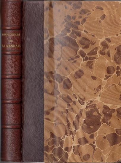 La Mennais, Felicite de: Confidences de La Mennais. Lettres inedites de 1821 a 1848. Publiee avec une introduction et des notes de Arthur du Bois de la Villerabel.