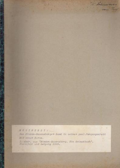 """Mestwerdt, (Adolf) Prof.Dr.: Das Minden-Ravensberger Land in seiner geologischen Vergangenheit. (Sonder-Abdruck aus """"Minden-Ravensberg - Ein Heimatbuch"""". Bielefeld und Leipzig 1929)."""