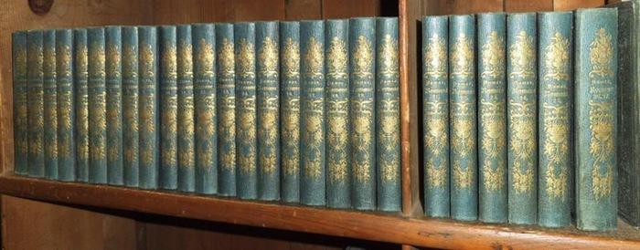 Dumas, Alexander (Alexandre): Sämmtliche (Sämtliche) Romane. Bände 1 - 27 in 26 Büchern, (Abteilung I), von insgesamt 36+6 Bänden. Enthalten sind: Die drei Musketiere 1+2 / dto. Zwanzig Jahre nachher 1-3 / Der Graf von Bragelonne 1 / dto. Zehn Jahre na...