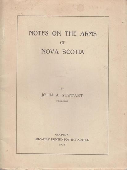 Stewart. John A.: Notes on the Arms of Nova Scotia.