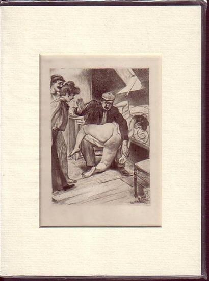 Flagellantismus. - Malteste, Louis: Original-Radierung von Louis Malteste.
