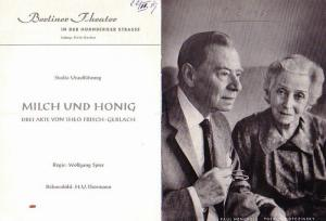Berlin. Berliner Theater. Ltg. Hela Gerber- (Hrsg.). Programmhefte : Berliner Theater. 1959 / 1965. Konvolut aus 4 Heften.