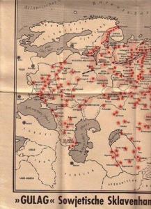 Arbeitslager. - >GULAG< Sowjetische Sklavenhandels AG. Herausgegeben vom Komitee für Freie Gewerkschaften der Amerikanischen Gewerkschaftsföderation (A.F. of L.), Frankfurt /M.