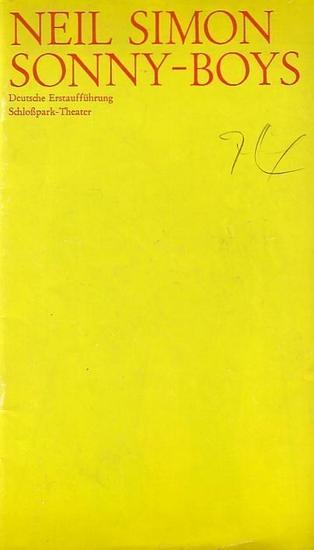 Berlin - Staatliche Schauspielbühnen -Hans Lietzau- Intendanz (Hrsg.) Programmheft des Schloßparktheaters Berlin, Spielzeit 1973/ 1974. Heft 26.