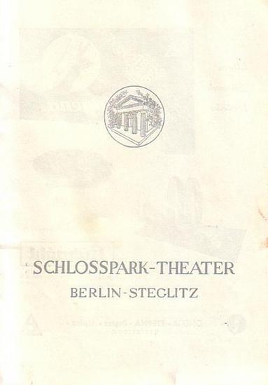 Berlin Schloßpark Theater -Boleslaw Barlog- Intendanz (Hrsg.) Programmheft des Schloßpark Theaters Berlin, Spielzeit 1954 / 1955. Heft 26, 28, 39, 43. Konvolut aus 4 Heften.