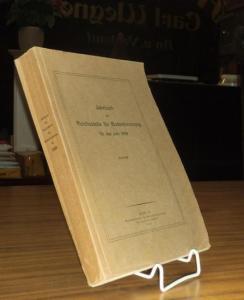 Hellbraune Originalbroschur. 4° (26,2 x 18,5 cm). 542 Seiten mit 29 Tafeln im Anhang und Abbildungen im Text. Nicht aufgeschnitten. Gutes Exemplar.
