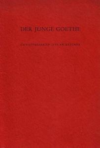4 Blatt Bütten mit Text und mit Goethe- Profil als Schattenriß um 1772. Roter Original-Karton mit Fadenheftung. 8°. Namenszug auf Einband-Innenseite. Gut erhalten.