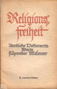 Herrmann, Gotthilf: Religionsfreiheit. Amtliche Dokumente. Worte führender Männer.