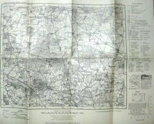 Jüterbog - Preußische Landesaufnahme (Hrsg.): Karte des Deutschen Reiches 1 : 100 000 (1-cm-Karte). Nr. 341: Jügerbog. Letzte Nachträge 1939.