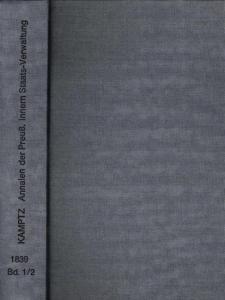 8°. Graublauer, neuerer Leinenband mit schwarzgeprägtem Rückentitel. Dreiseitenrotschnitt. (2), 268 / (2) S. 269-528. Gutes Exemplar