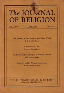 Journal of Religion, The - Shirley Jackson Case (Ed.): The Journal of Religion. Volume XIII, April 1936, Number 2.