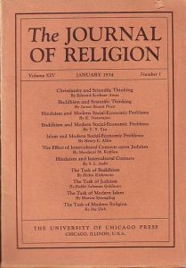 Journal of Religion, The - Shirley Jackson Case (Ed.): The Journal of Religion. Volume XIV, January 1934, Number 1.