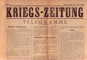 KriegsZeitung: Kriegs-Zeitung. Nr. 48 vom Samstag, den 26. Juni 1915.