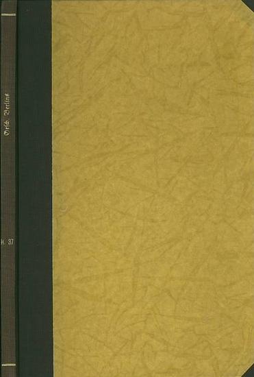 """Metzel; R. Walden; Fr. Weinitz: Schriften des Vereins für die Geschichte Berlins. Heft XXXVII: 1. Zur Geschichte des Herrenhaus-Gebäudes (Metzel); 2. Die Chodowiecki-Büste des Vereins für die Geschichte Berlins (R. Walden); 3. Des """"Deutsch-Francos..."""