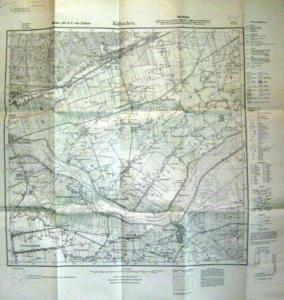 Reichsamt für Landesaufnahme: Karten mit A.P. von Cüstrin [so!]. Költschen. [Nr.:] 1775.