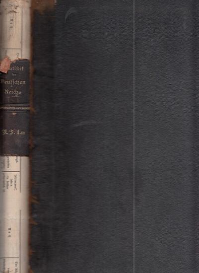 Statistik des Deutschen Reichs. / Kaiserliches Statistisches Amt. - Berufsstatistik nach der allgemeinen Berufszählung vom 5. Juni 1882. - 3. Berufsstatistik der Staaten und größeren Verwaltungsbezirke. - Dritter Theil. - Die Bevölkerung der Staaten de...