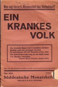 Süddeutsche Monatshefte Süddeutsche Monatshefte. Maiheft 1923 - Ein krankes Volk.