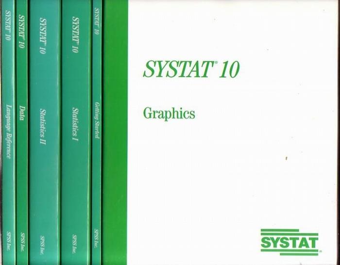 Systat - SYSTAT 10 : 6 Broschuren: Statistics 1+2. Getting Started. Data. Language Reference. Graphics.