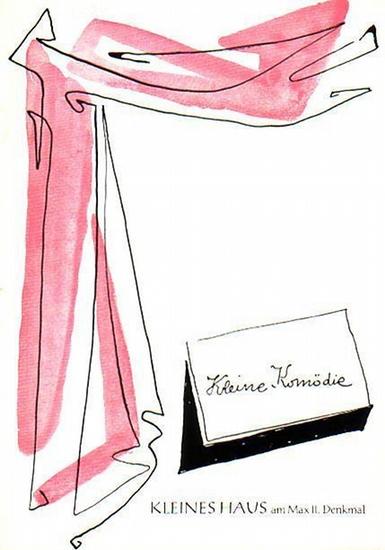 München. - Kleine Komödie. - Wittlinger, Karl: Kennen Sie die Milchstraße? Spielzeit 1962 / 1963, Programmheft 1, Ausgabe 1 (August-September 1962). Komödie. Regie: Karl Wittlinger. Bühnenbild: Eduard Löffler. Mitwirkende: Hubert von Meyerinck und Fran...