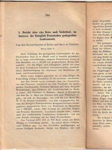 Behrendt und Meyn: 5. Bericht über eine Reise nach Niederland, im Interesse der Königlich Preussischen geologischen Landesanstalt. Besonderer Abdruck aus der Zeitschrift der Deutschen geologischen Gesellschaft, Jahrgang 1874.