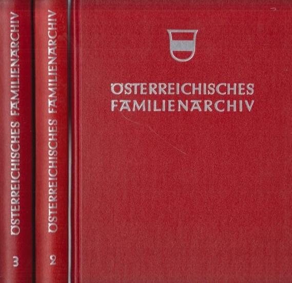 Geßner, Gerhard (Hrsg.): Österreichisches Familienarchiv - Ein genealogisches Sammelwerk herausgegeben von Gerhard Geßner, Schriftleitung Dr. Hanns Jäger-Sunstenau. 3 Bände [so komplett].
