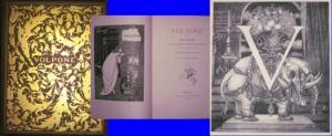 Beardsley, Aubrey (Illustr.) / Ben Jonson (Text): Volpone - von Ben Jonson. Mit Initialen, einem Titelblatt und Deckelgestaltung von Aubrey Beardsley. Autorisierte (erste) deutsche Ausgabe von Margarete Mauthner.