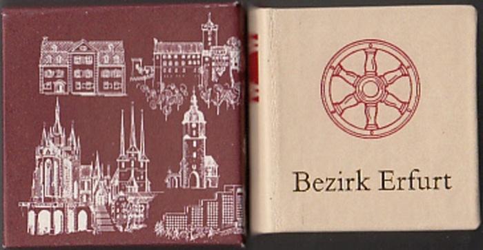 Erfurt. - Schwager, Sigurd: Bezirk Erfurt. Grafiken: Gottfried Herrmann. Gestaltung: Siegfried Hempel.
