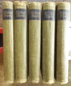 Wilde, Oscar: Werke in fünf Bänden. Komplett.