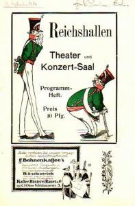 Berlin Reichshallentheater. - Stettiner Sänger: Programm-Heft des Reichhallen - Theater und Konzert-Saal. Programm der Stettiner Sänger zu der Vorstellung am 12. September 1914 und mit weiteren Ankündigungen.