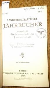 Landwirtschaftliche Jahrbücher. - Reichs- und Preußisches Ministerium für ernährung und Landwirtschaft (Hrsg.). - Teichert,Ewald / Lehmann,Werner / Engelke, Heinrich: Landwirtschaftliche Jahrbücher. Zeitschrift für wissenschaftliche Landwirtschaft. 84....